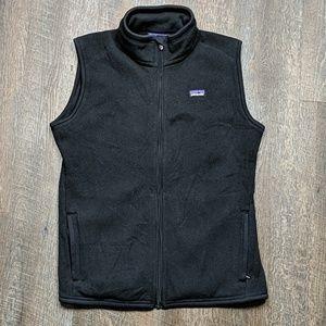 Patagonia Black Vest Fleece Lined Zip Up Womens